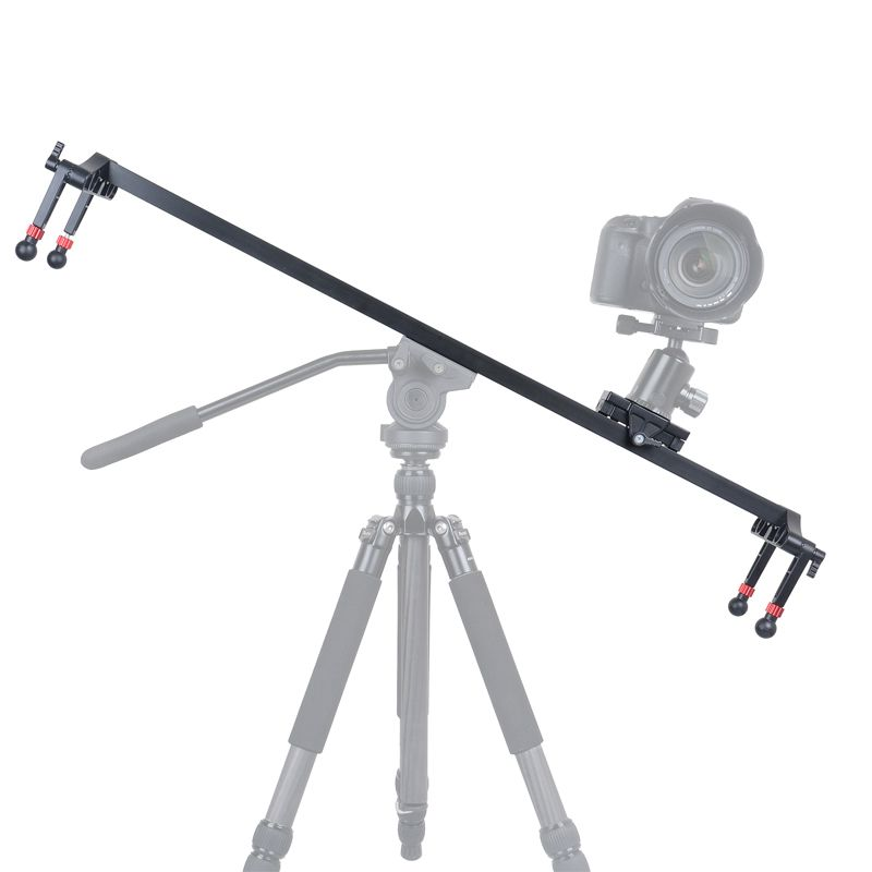 KINGJOY VM-1000 mm Length Aluminium Weasure Camera Rail Slider med Smooth Movement for Photo and Video